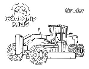 ConEquip Kids Construction Coloring grader