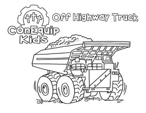 ConEquip Kids Construction Colorin</a>g off highway truck
