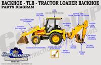 Backhoe loader parts diagram